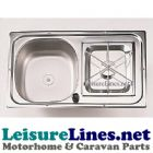 1 BURNER COMPACT STAINLESS COMBINATION HOB UNIT 600 x 350